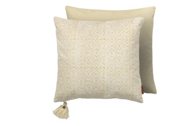 Image of   Cotton seashell pude yellow fra Cozy Living
