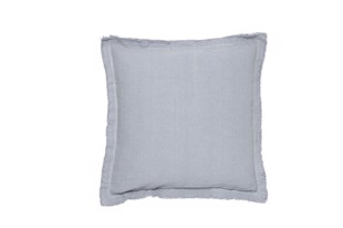 Cotton Cottage pude stonewashed flint 40x40 cm fra Cozy Living