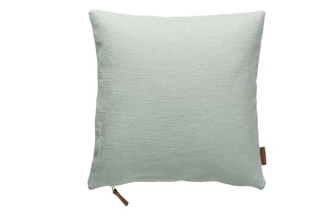 Image of   Cotton pude i farven aqua Cozy Living