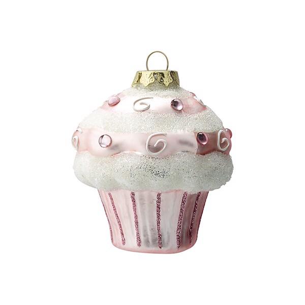 Image of   Cupcake juleornament i pink - 6 stk. fra Greengate
