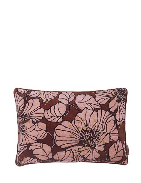 Image of   Dahlia Velvet Printed pude 40x60 cm - Mahogny fra Cozy Living