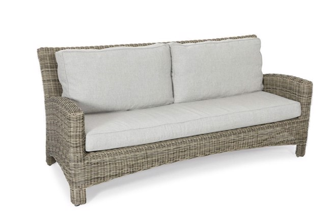 Image of   Dallas lounge havesofa 2,5 pers. i polyrattan fra Hillerstorp