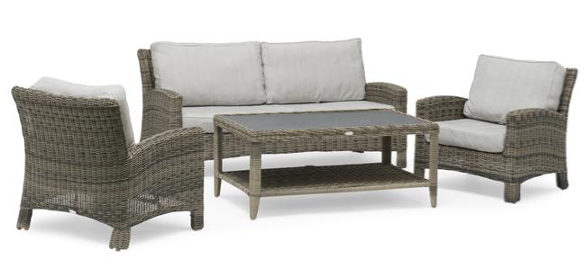 Image of   Dallas lounge havemøbelsæt i polyrattan fra Hillerstorp
