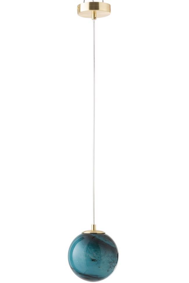 Image of   Dany loftlampe i blå glas Ø14m5 cm fra J-Line