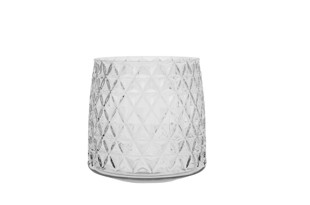 Diamond klar facetslebet vase stor  fra Molly Marais