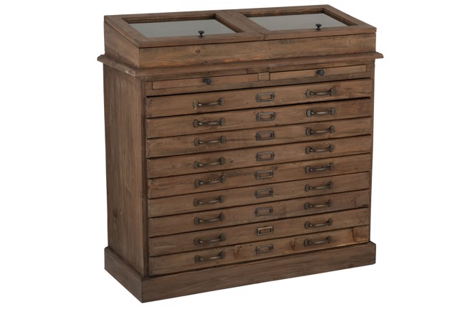 Image of   Dresser kommode med skuffer og display fra J-Line