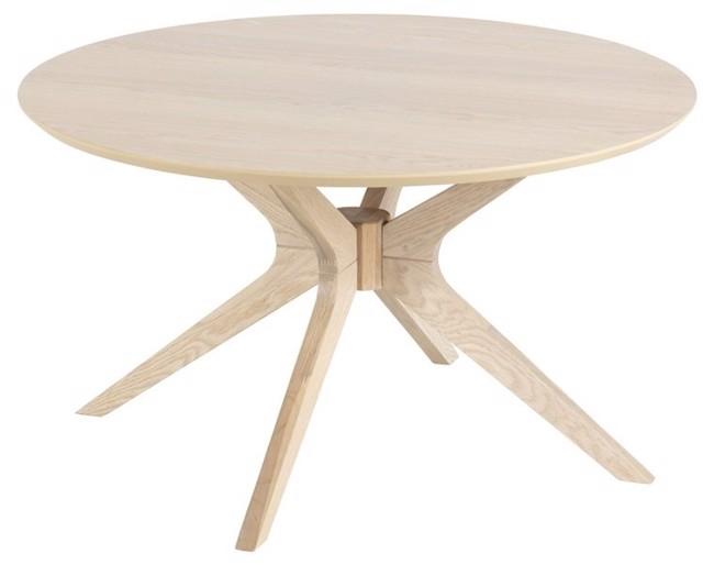 Image of   Duncan sofabord i egetræ - Ø80 cm fra Actona