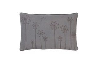Embroidered Dandelion bead pude 30x50 cm  i farven Mud fra Cozy Living