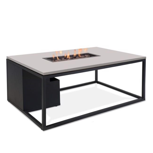 Image of   Firepit havebord med pejs 120 cm - Grå/Sort - fra Cosi