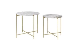 Freja marble table set i farven beige/brass fra Cozy Living
