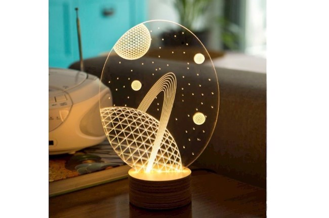 Image of   Galaxy 3D bordlampe H23 cm fra Studio Cheha