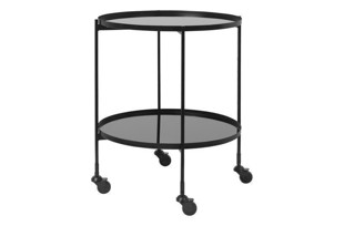 Bar cart Gitte black - rullebord fra Cozy Living