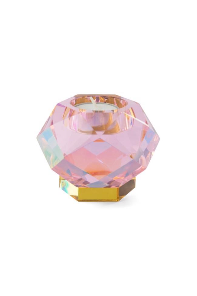 Image of   Glam fyrfadslysestage pink krystal fra Eden Outcast