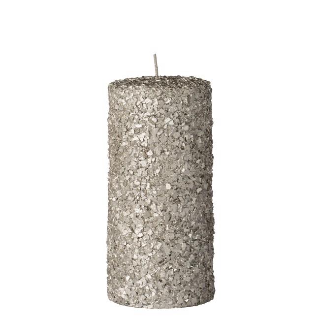 Image of   Gliteria bloklys i sølv H15 cm fra Lene Bjerre