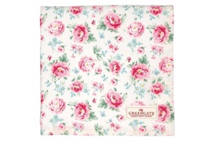 Greengate dug - Tablecloth Meryl white 150x150cm