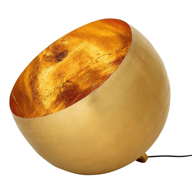 Image of   Gulv Lampe, Guld, Metal Ø50 cm fra Bloomingville