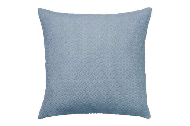 Image of   Holly Waffle weaded pude i farven dusty blue 50x50 cm fra Cozy Living