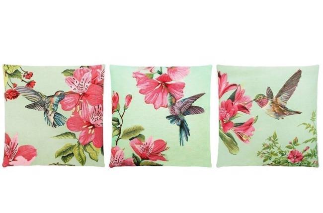 hummingbirds gobelinpude med kolibri i mintgr n 45x45 cm fra fs home collection. Black Bedroom Furniture Sets. Home Design Ideas
