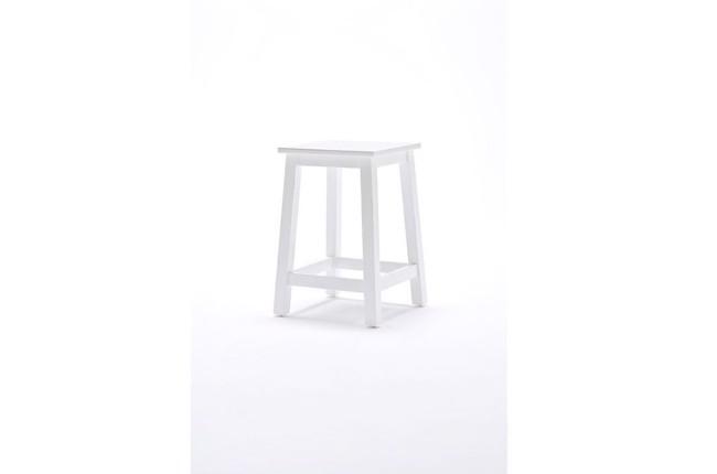 Image of   Hvid taburet fra Novasolo