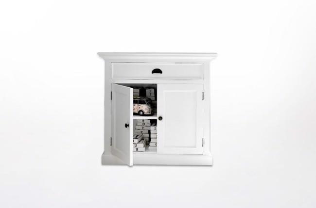 Image of   Hvid skænk med skabe og skuffer fra Novasolo