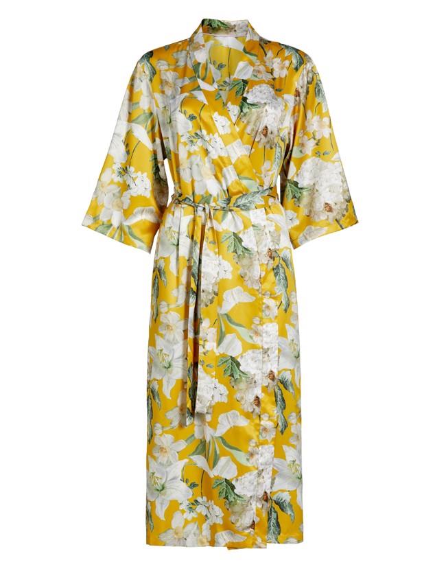 Image of   Ilona Rosalee kimono - gul - Flere størrelser - fra Essenza