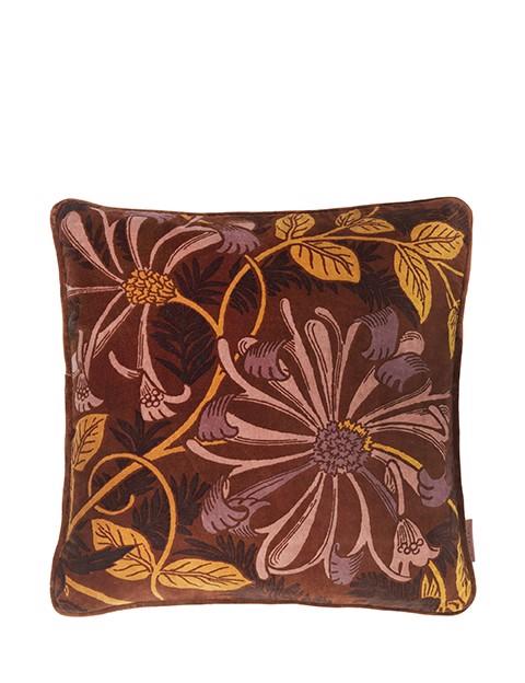 Image of   Ingvild Velvet pude 50x50 cm - Mahogany fra Cozy Living