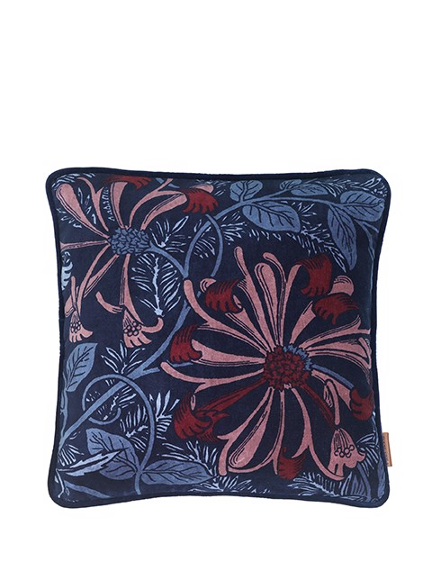 Image of   Ingvild Velvet pude 50x50 cm - Midnight fra Cozy Living