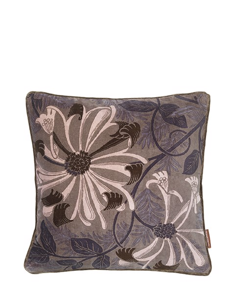 Image of   Ingvild Velvet pude 50x50 cm - Taupe fra Cozy Living