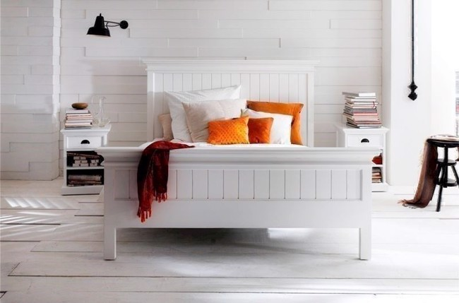 Image of   King size seng hvid 180 cm fra Novasolo