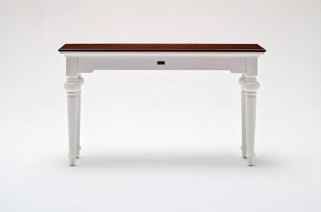 Image of   Konsolbord i hvid og mahogni fra Novasolo