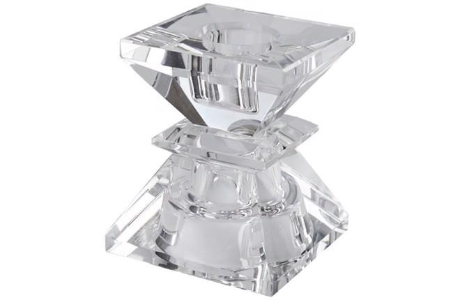 Krystal lysestage firkantet - højde 7,5 cm fra Cest Bon