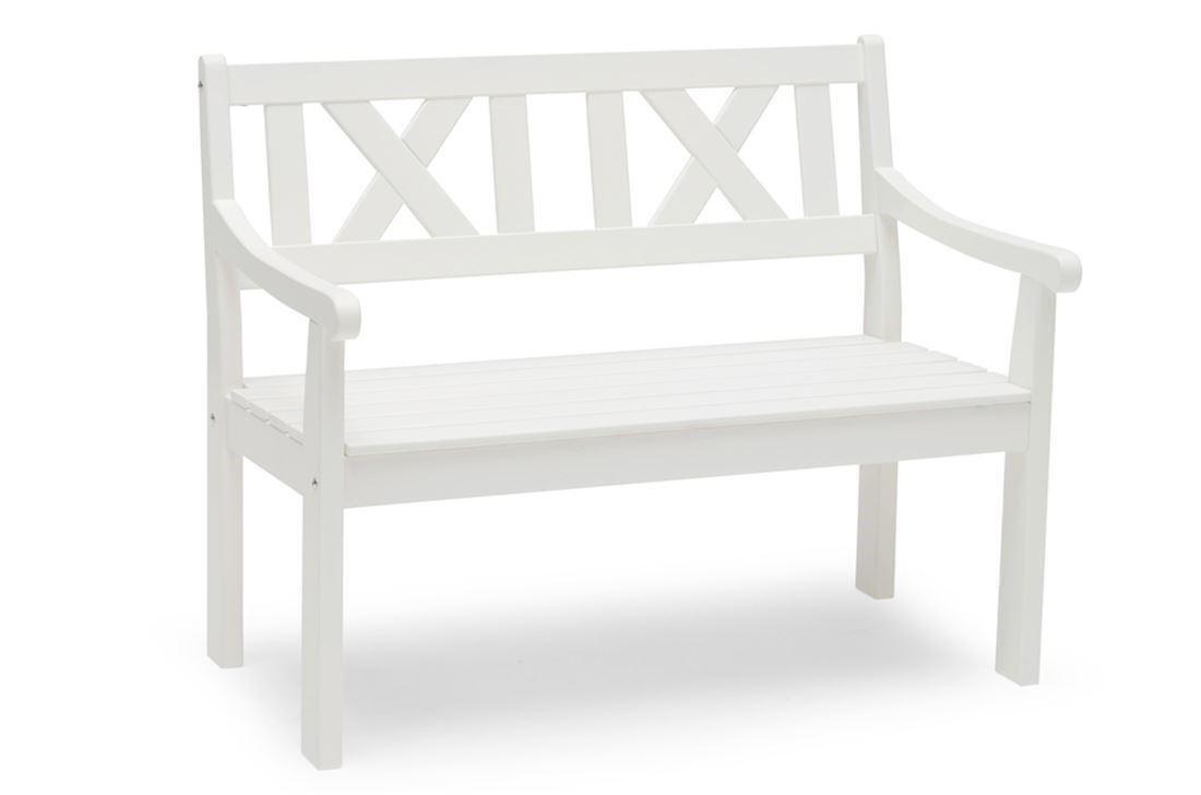 Läckö 2 personers sofa i hvid fra Hillerstorp