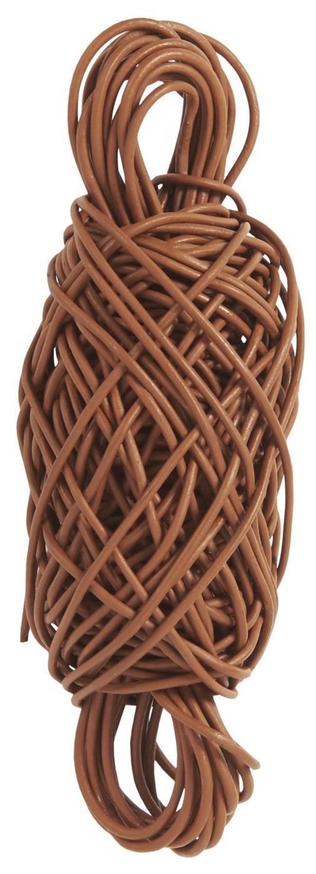 Image of   Lædersnor, rund, brun, 20m fra Ib Laursen
