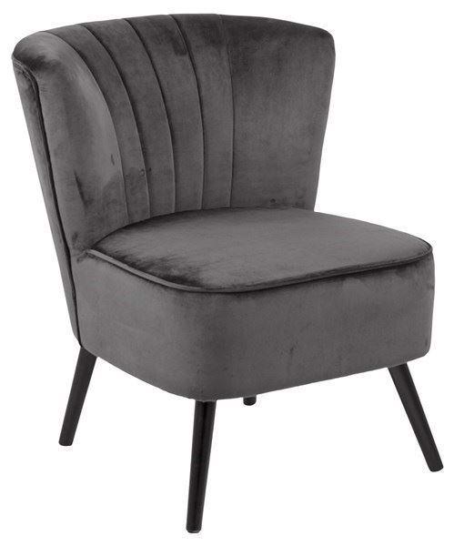 Image of   Lark lænestol, mørkegrå velour fra Actona Company