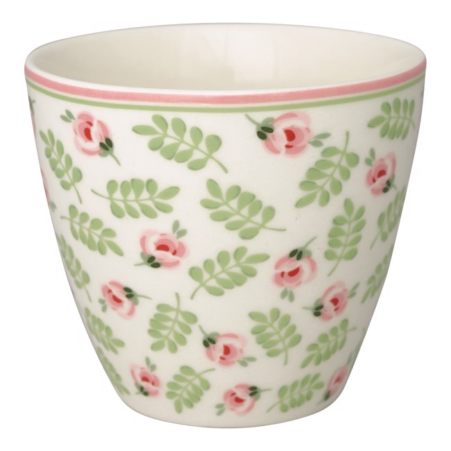 Image of   Greengate lattekop - Latte cup Lily petit white