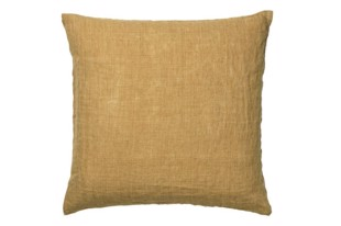 Linen pude 50x50 cm i farven curry fra Cozy Living