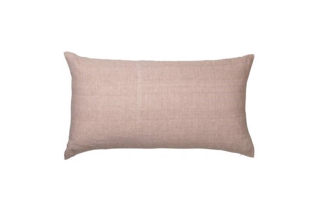 Image of   Luxury light linen gable pude i farven dusty rose fra Cozy Living