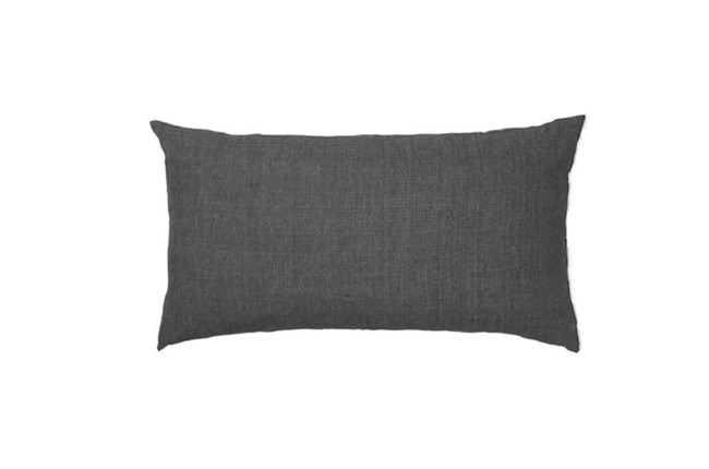 Image of   Linen Head Board pude i farven Charcoal fra Cozy Living