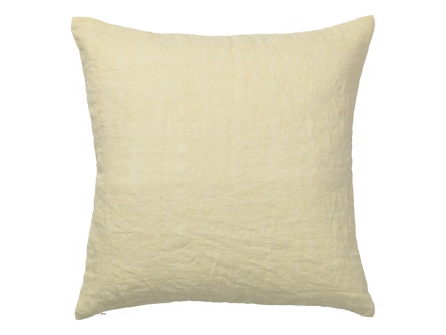 Image of   Luxury Light Linen pude 50x50 cm - Yellow fra Cozy Living