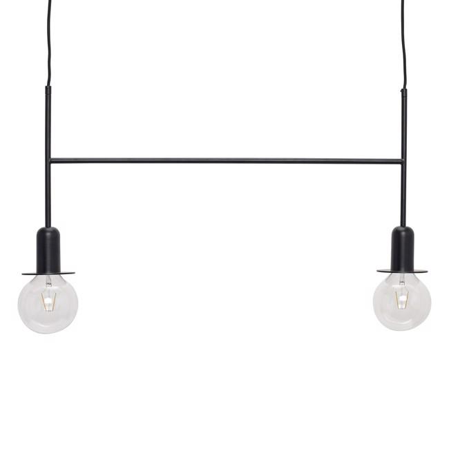 Image of   Lampe/pendel m/pære, metal, sort fra Hübsch