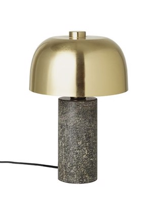 Lulu bordlampe i marmor og messing - Forest green fra Cozy Living