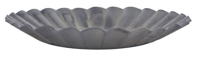 Image of   Lysbakke med riller, grå, Ø11 cm fra Ib Laursen