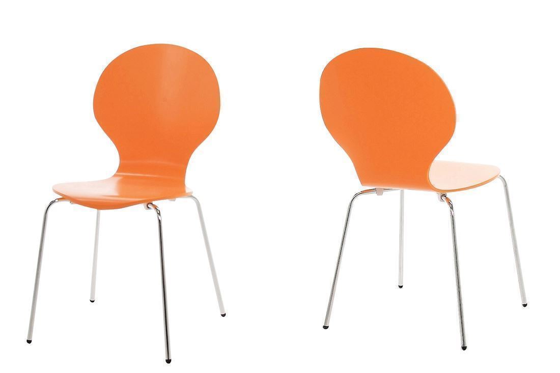 Marcus spisestuestol  i orange design