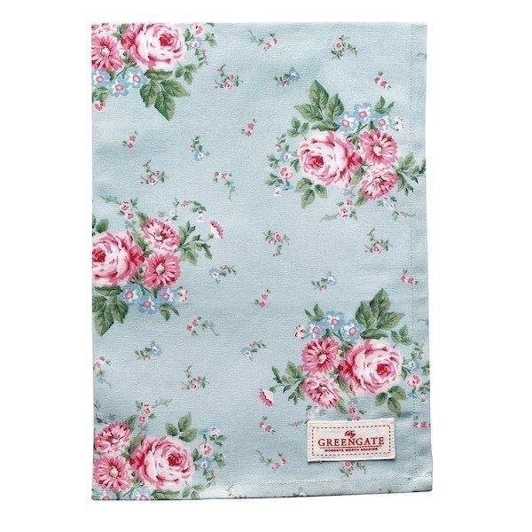 Image of   Greengate viskestykke - Tea towel Marley pale blue