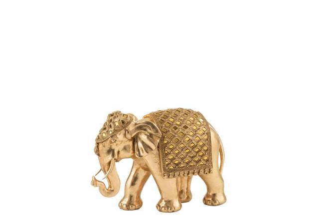 Image of   Mirror elefant guld medium fra J-Line