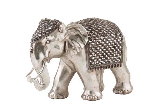 Image of   Mirror elefant sølv large fra J-Line