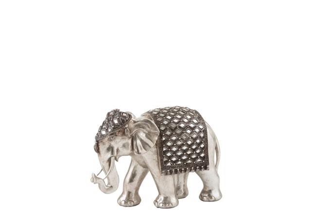 Image of   Mirror elefant sølv medium fra J-Line
