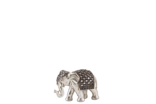 Image of   Mirror elefant sølv small fra J-Line