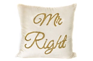 Mr. Right pude i elfenben fra THG Home & Interior