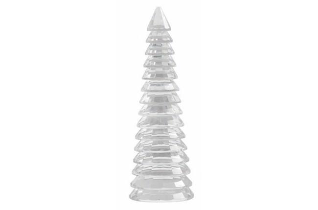 Image of   Juletræ i krystal - H32 cm - klar glas fra Nordal